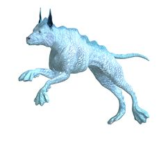 Free Bizarre Alien Dog.3D Rendering With Clipping Path Royalty Free Stock Images - 14521899