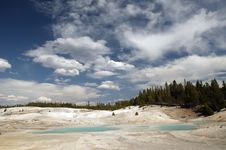 Free Blue Pools Of Yellowstone Stock Photography - 14522032