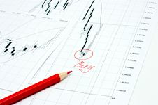 Free Business Graph And Pencil Royalty Free Stock Images - 14522659