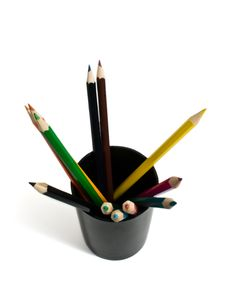 Free Pencil And Black Glass Royalty Free Stock Photography - 14522667