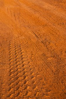 Free Wheel Tracks On Country Road Royalty Free Stock Photos - 14523008
