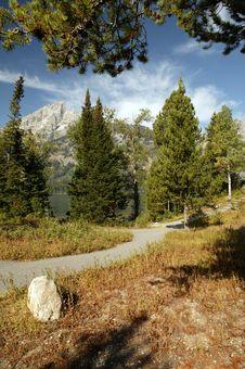 Free Grand Teton Freedom Path Stock Photo - 14523070