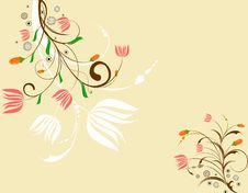 Free Abstract Floral Background Royalty Free Stock Photo - 14523095