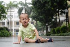 Free Crying Asian Baby Royalty Free Stock Photography - 14523207