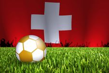 Swiss Football Illustration Stock Photography