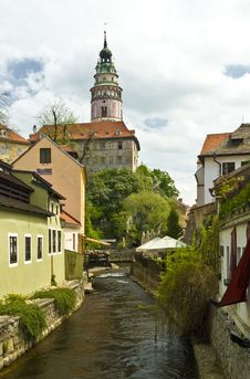Free Narrow Canal At Cesky Krumlov Royalty Free Stock Photography - 14523797