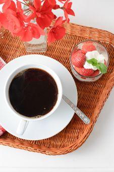 Tray With Breakfast Royalty Free Stock Photos