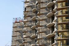 Multi-storey Building Under Construction Royalty Free Stock Photography
