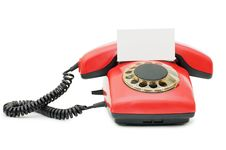 Free Red Old Telephone Stock Photography - 14524252