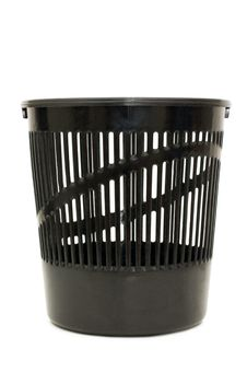 Basket For Garbage Isolated Over White Stock Image