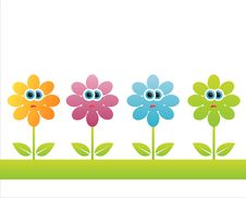 Free Colorful Floral Background Stock Images - 14524404