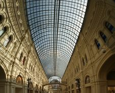 Interior Store GUM, Red Square, Moscow Royalty Free Stock Photos