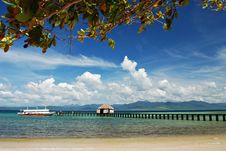 Free Tropical Beach Dock Royalty Free Stock Image - 14524746