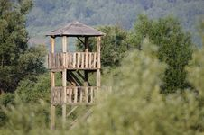 Wooden Watchtower Stock Image
