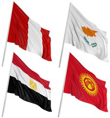 3D Flags Of World Royalty Free Stock Images