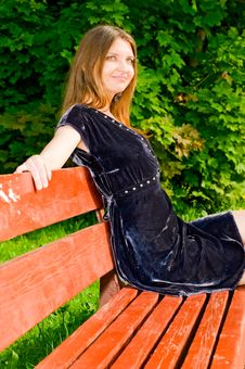 Free Girl On Bench Stock Photography - 14524992