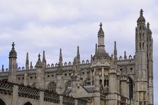 Free Sculpted Towers Of University From Cambridge Stock Photography - 14525022