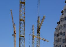 Free Elevating Construction Crane Stock Photography - 14525082