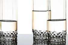 Three Luxury Glasses Stock Photography