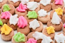 Free Colorful Icing Biscuit Close Up Royalty Free Stock Photo - 14526025