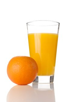 Free Fresh Orange Juice In A Glass Stock Photography - 14526472
