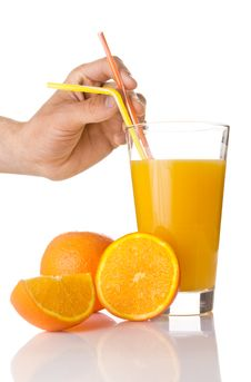 Free Fresh Orange Juice In A Glass Royalty Free Stock Images - 14526499