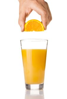 Free Fresh Orange Juice In A Glass Royalty Free Stock Photography - 14526517