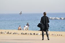 Free Barceloneta Beach, Barcelona Royalty Free Stock Photos - 14526688