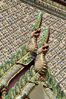 Free Tile Mosaic Senpent Pattern Thailand Style Royalty Free Stock Photos - 14527468