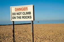 Free Danger Warning Sign Royalty Free Stock Image - 14527846