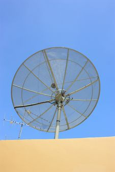 Satellite On The Roof Royalty Free Stock Photo