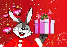 Christmas Rabbit Royalty Free Stock Image
