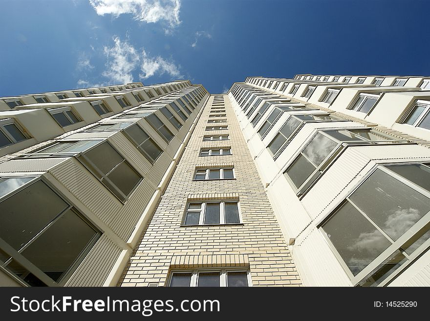 Moscow, Russia, new multi-storey residential b