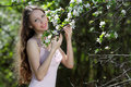 Free Young Happy Woman In Spring Or Summer Garden Stock Image - 14533631