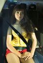 Free Woman Fastened By Seat Belt Royalty Free Stock Photography - 14536657