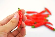 Free Hands On Red Pepper Stock Images - 14531154