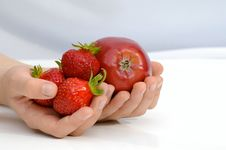 Free Fruits In The Hands Stock Images - 14531804