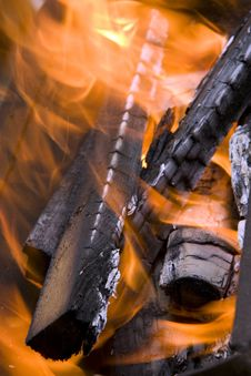 Free Fire Wood On Fire Royalty Free Stock Photography - 14532447