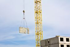 Crane Over Blue Sky Royalty Free Stock Photos