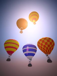 Free Balloons At Sunset Stock Images - 14532624