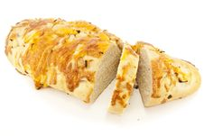 Cheese And Onion Loaf Stock Photo