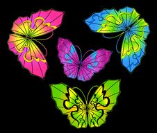 Free Abstract Butterfly Royalty Free Stock Images - 14533199
