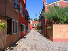 Free Burano Street Stock Image - 14533221
