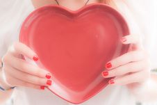 Free Teenager Holding Heart Stock Photo - 14533650