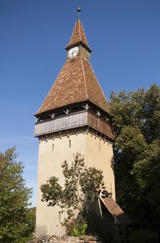 Free Clock Tower Gothic Biertan Transylvania Royalty Free Stock Image - 14534116