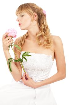 Free Bride With Peony Royalty Free Stock Photography - 14534297