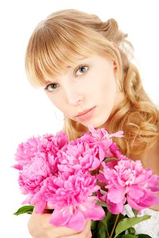 Free Girl With Flowers Stock Photography - 14534332