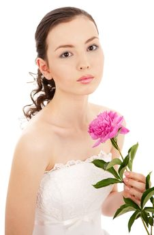 Free Bride With Flower Stock Image - 14534361
