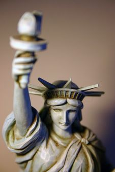 Statue Of Liberty Figure Royalty Free Stock Images