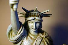 Statue Of Liberty Figure Stock Image